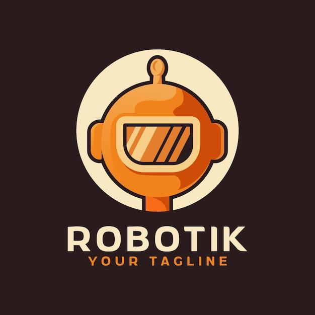 Logo głowy robota Premium Wektorów