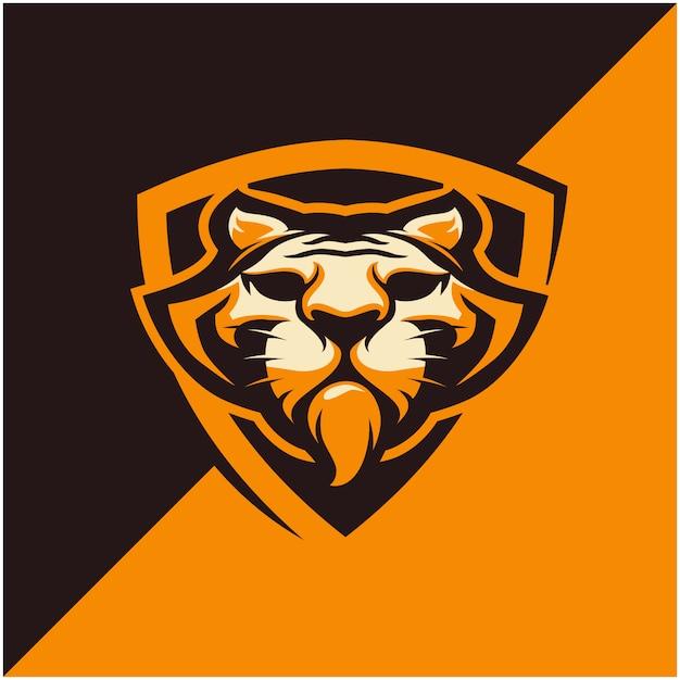 Logo Głowy Tygrysa Dla Drużyny Sportowej Lub E-sportowej. Premium Wektorów