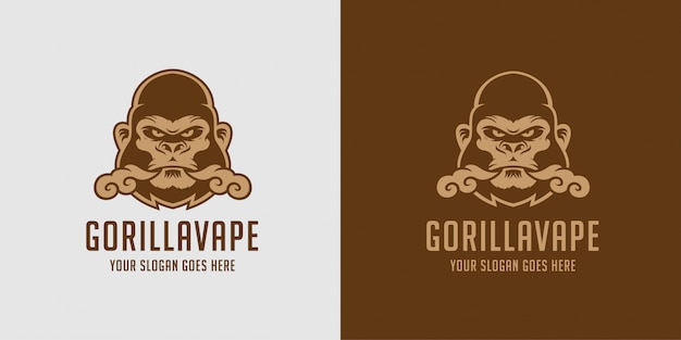Logo Gorilla Vape W Płynie Premium Wektorów