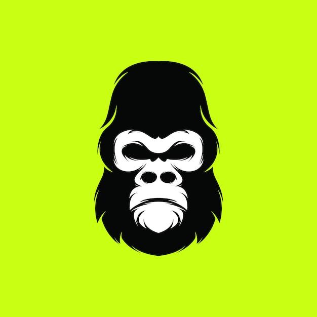 Logo goryla Premium Wektorów