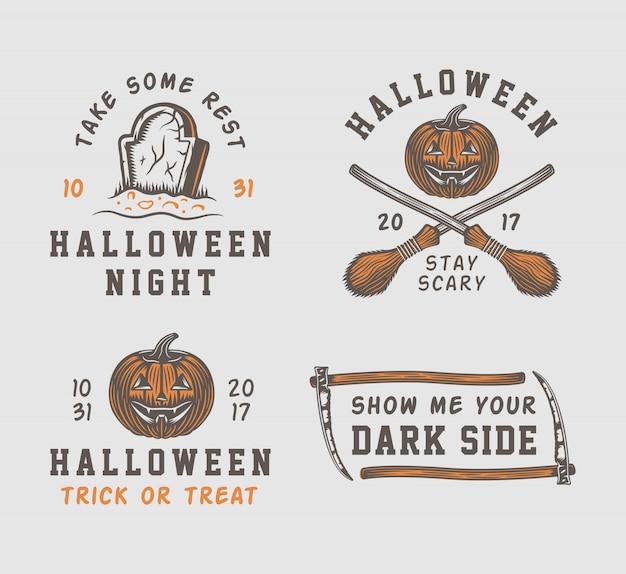 Logo halloween Premium Wektorów