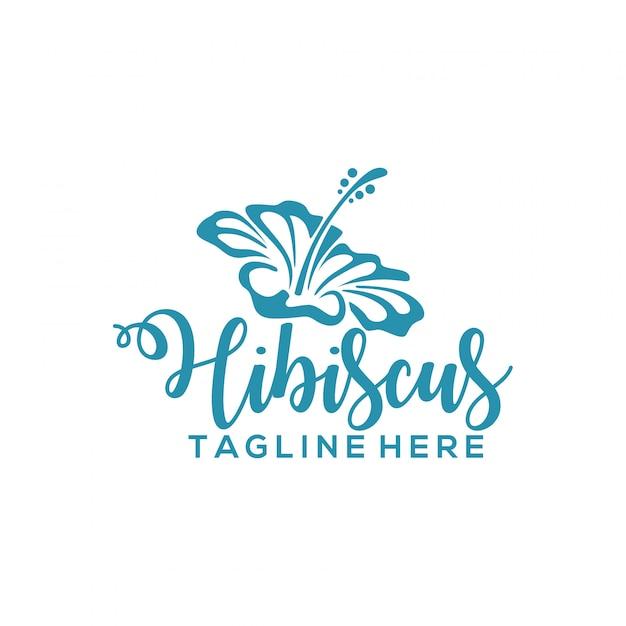 Logo Hibiscus Premium Wektorów