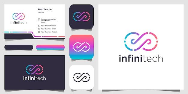 Logo I Wizytówka Infinity Premium Wektorów