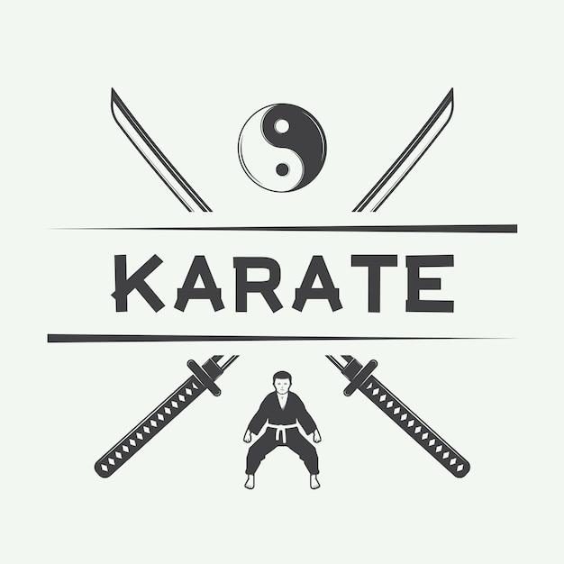 Logo karate, godło Premium Wektorów