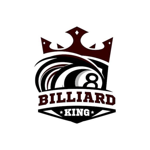 Logo King Billiard Premium Wektorów