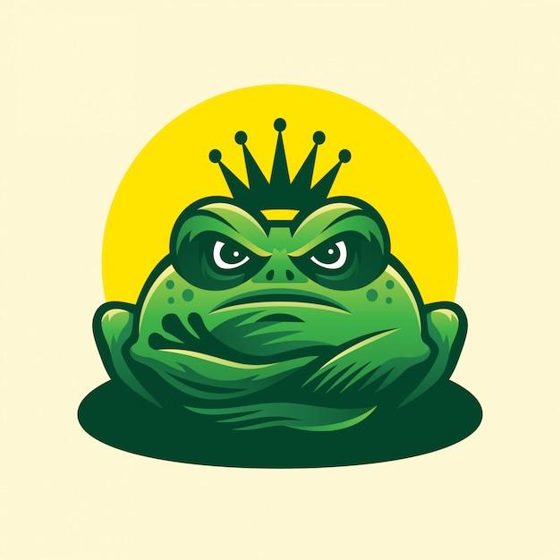 Logo King Frog Premium Wektorów