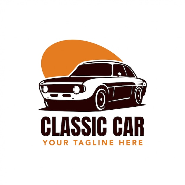 Logo Klasycznego Samochodu Premium Wektorów