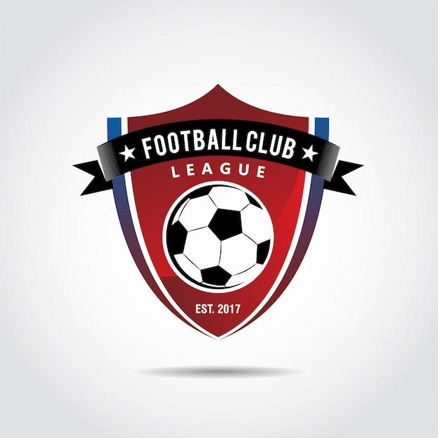 Logo Klubu Piłkarskiego Premium Wektorów