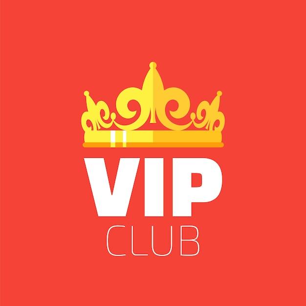 Logo klubu vip Premium Wektorów