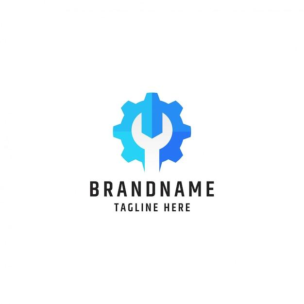Logo Klucza I Sprzętu. Szablon Projektu Narzędzia Serwisowego I Naprawczego Premium Wektorów