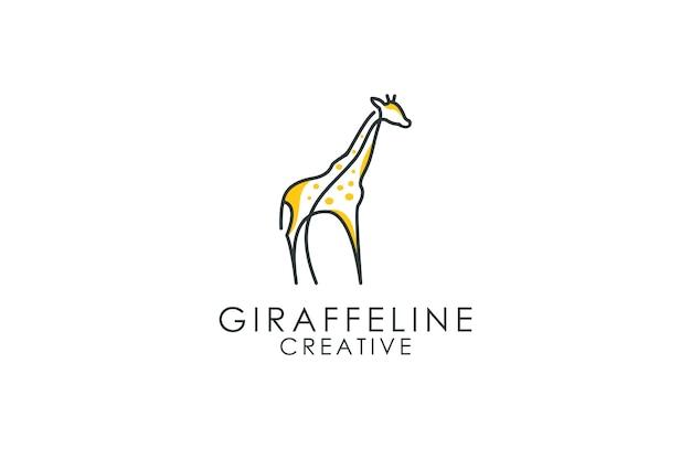Logo Konspektu żyrafa Premium Wektorów