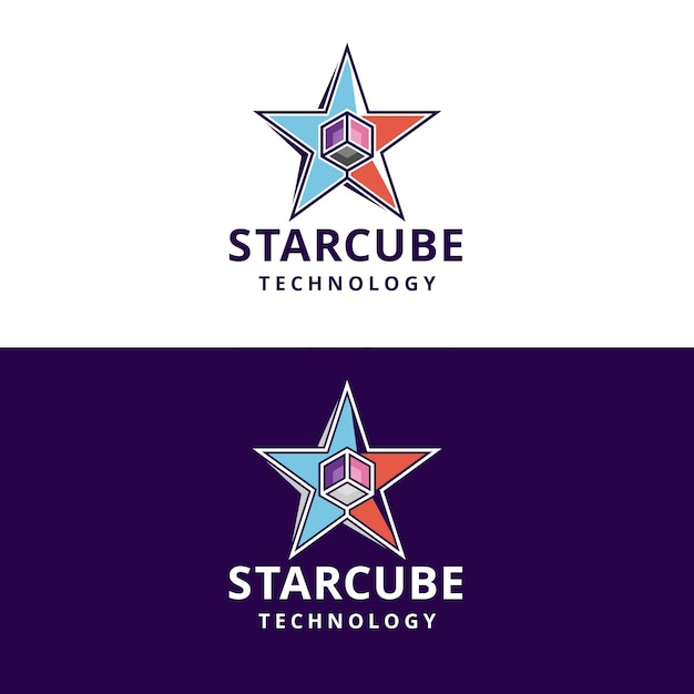 Logo Kostki Gwiazdy Premium Wektorów