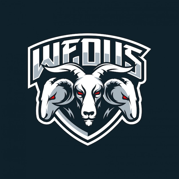 Logo Koziego Esportu Premium Wektorów