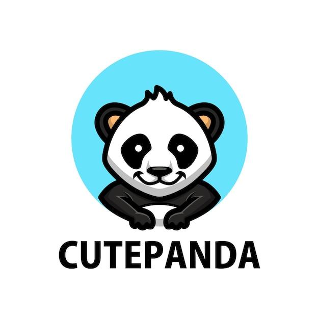 Logo Kreskówka Słodkie Panda Premium Wektorów
