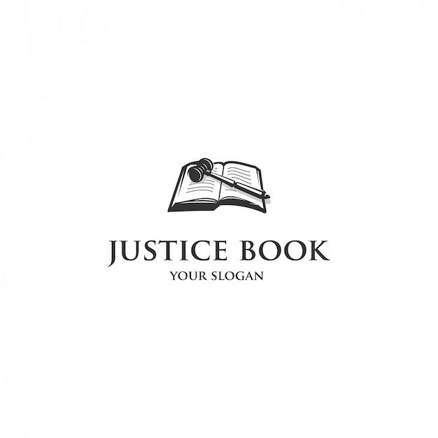 Logo Książki Sprawiedliwości Premium Wektorów