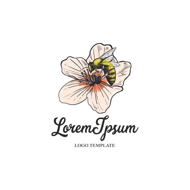 Logo Kwiaciarni Z Kwiatami Premium Wektorów