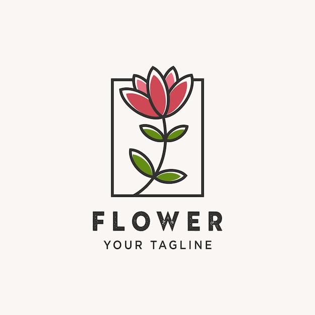 Logo kwiatka Premium Wektorów