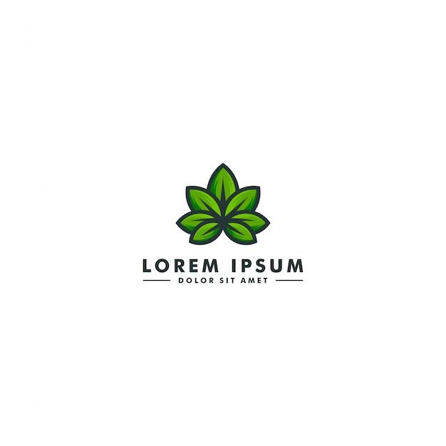 Logo laboratorium cannabis Premium Wektorów