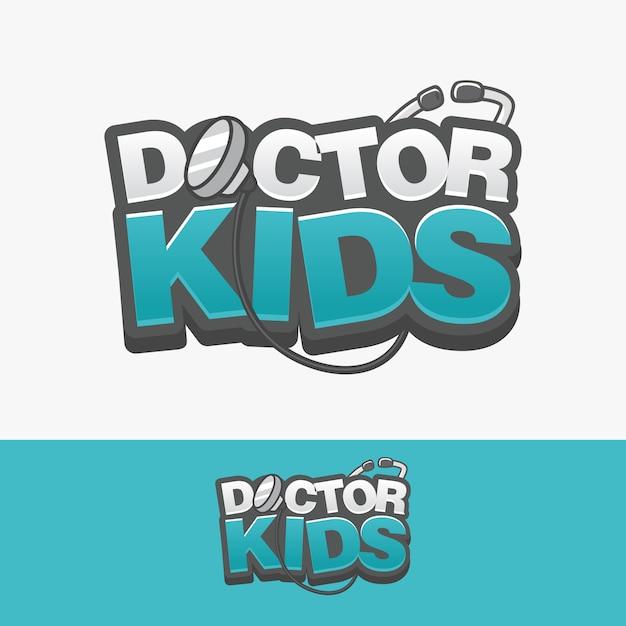 Logo lekarza dzieci Premium Wektorów