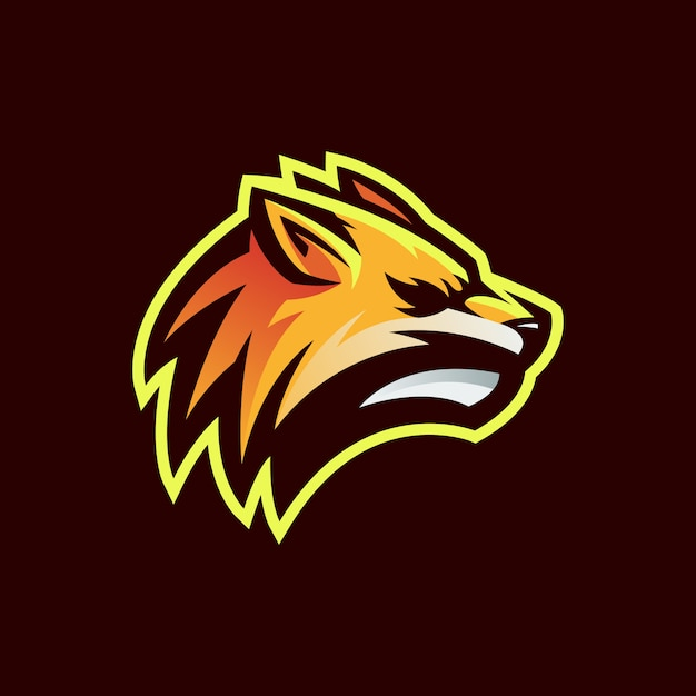 Logo Lisa Głowy Premium Wektorów