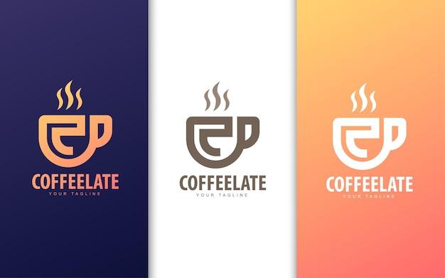 Logo Litery C W Filiżance Kawy. Koncepcja Logo Nowoczesnej Kawiarni Premium Wektorów