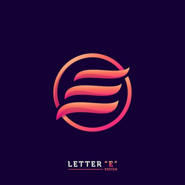 Logo litery e Premium Wektorów