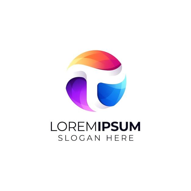 Logo Litery T. Premium Wektorów