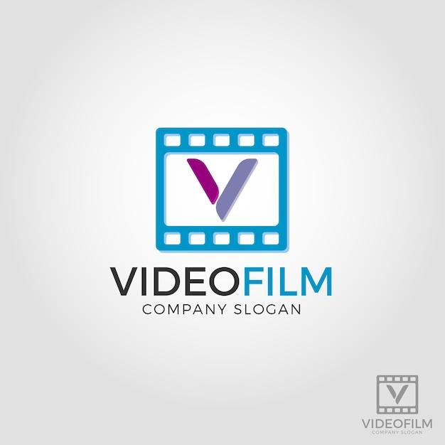 Logo litery v - logo filmu wideo Premium Wektorów