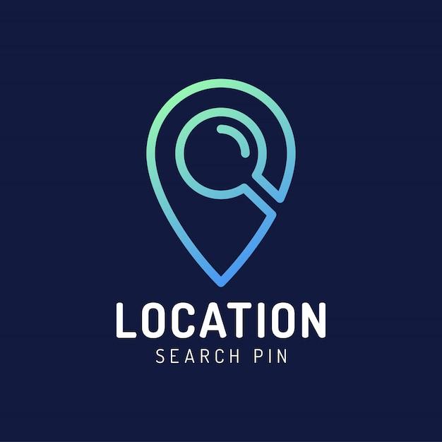 Logo Lokalizacji Punktu Mapy. Premium Wektorów