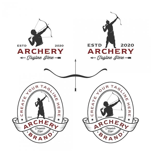 Logo łucznicze O Różnych Stylach Projektowania Premium Wektorów
