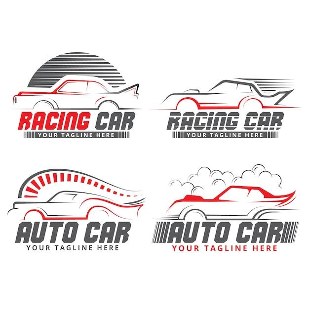Logo Marki Kształtuje Samochód O Płaskiej Konstrukcji Darmowych Wektorów