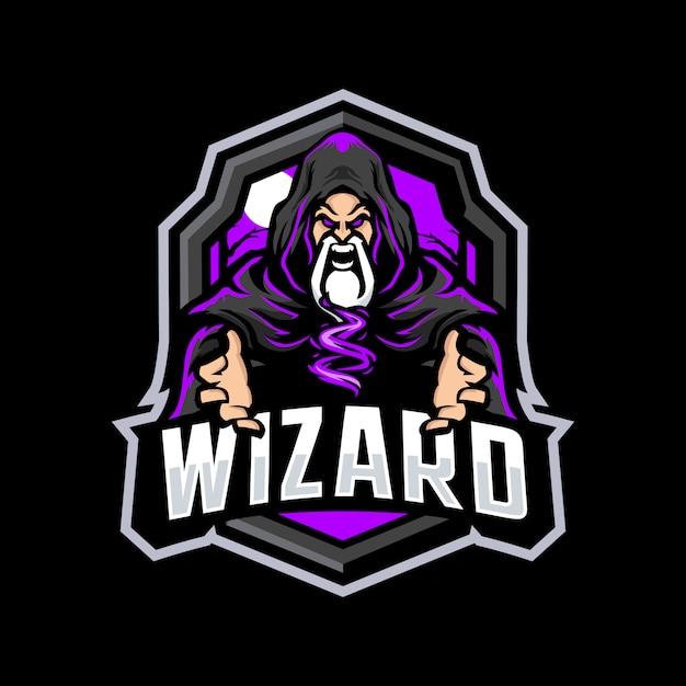 Logo Maskotka Czarodzieja Premium Wektorów
