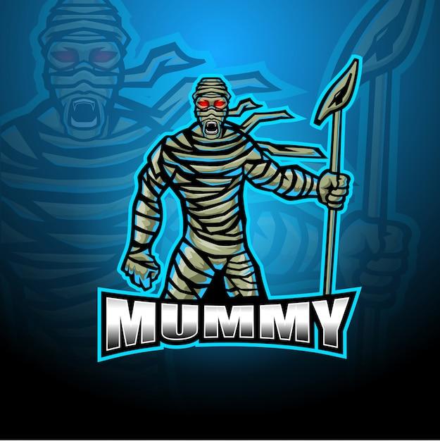 Logo Maskotka Mumia Premium Wektorów