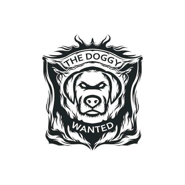 Logo Maskotka Psa Premium Wektorów