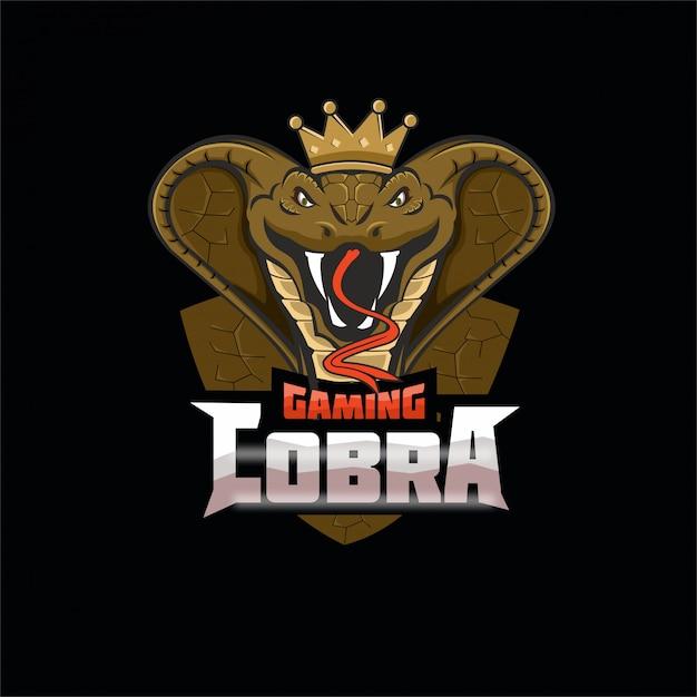 Logo Maskotki Drużyny E-sportowej Cobra Premium Wektorów