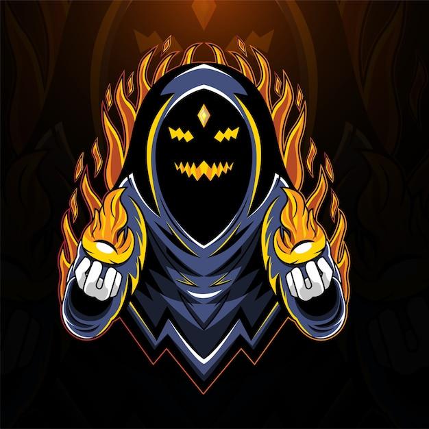 Logo Maskotki E-sportowej Kreatora Ducha Premium Wektorów