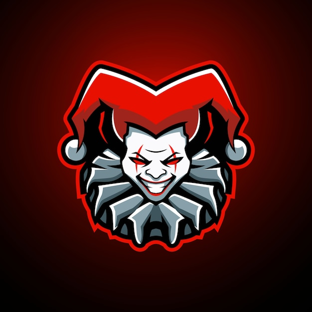 Logo Maskotki Jokera Premium Wektorów