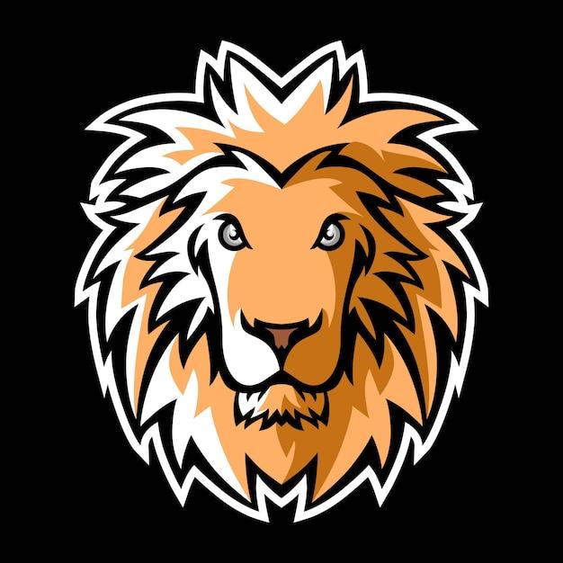 Logo Maskotki Lwa Premium Wektorów
