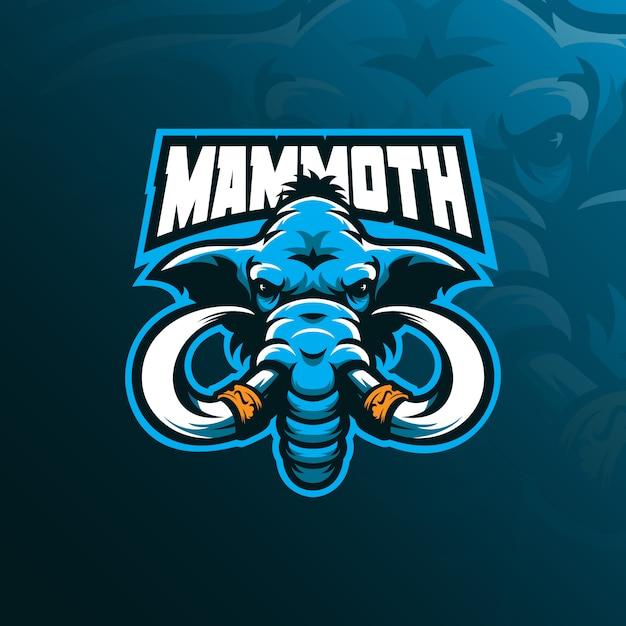 Logo Maskotki Mamuta Premium Wektorów