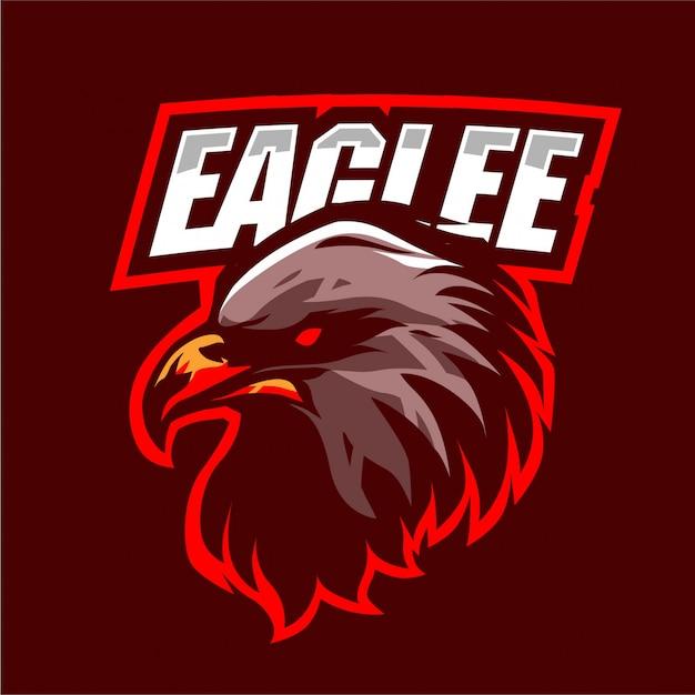 Logo Maskotki Z Głową Orła Premium Wektorów