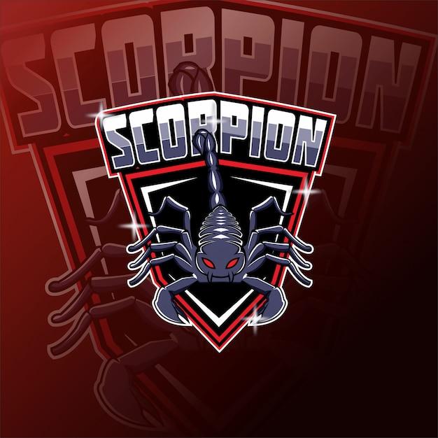 Logo Maskotki Zespołu E-sportowego Zespołu Scorpions Premium Wektorów