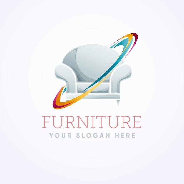 Logo Mebli Z Fotelem Darmowych Wektorów