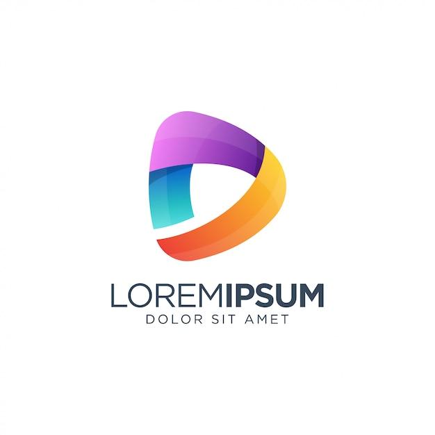 Logo Mediów Premium Wektorów