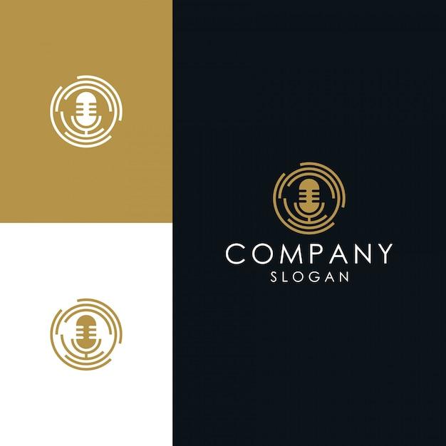 Logo mikrofonu Premium Wektorów