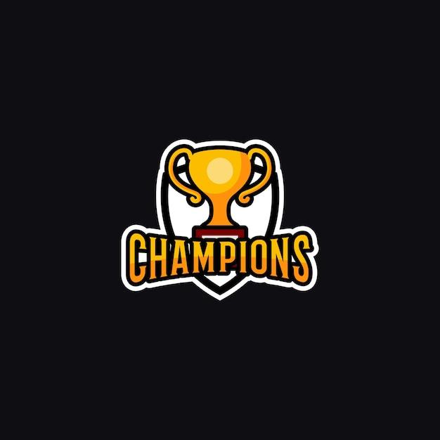 Logo mistrzów Premium Wektorów