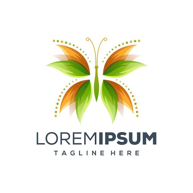 Logo Motyla Premium Wektorów