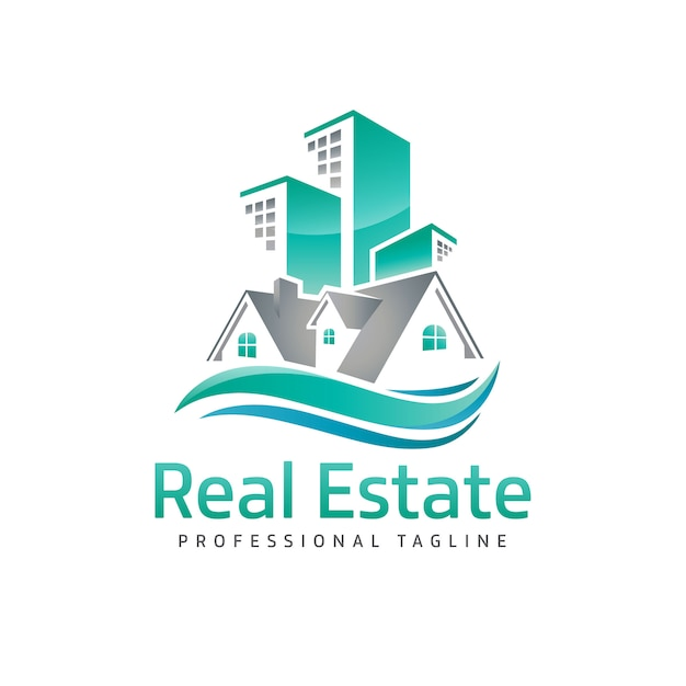 Logo nieruchomości Premium Wektorów