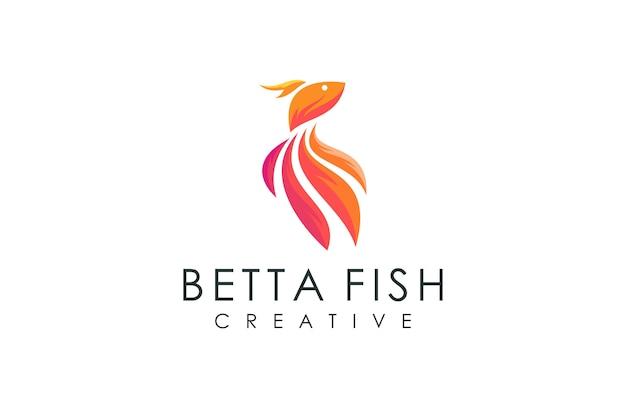 Logo Nowoczesnej Ryby, Ilustracji Wektorowych Z Kolorowych Nowoczesnych Koncepcji Premium Wektorów