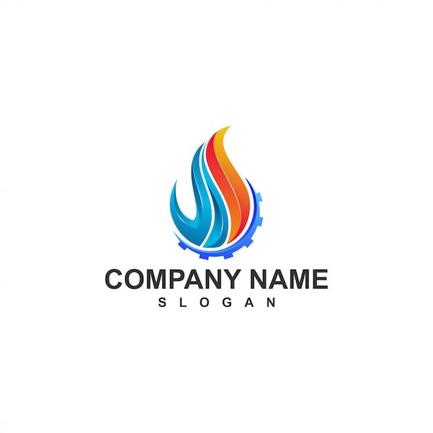 Logo Ognia Premium Wektorów