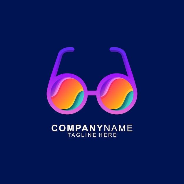 Logo Okularów Premium Wektorów